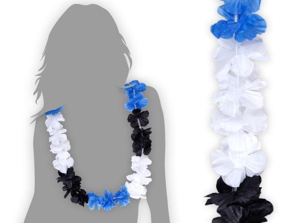 hawaikette blau wei schwarz blumenkette hsv 38. Black Bedroom Furniture Sets. Home Design Ideas