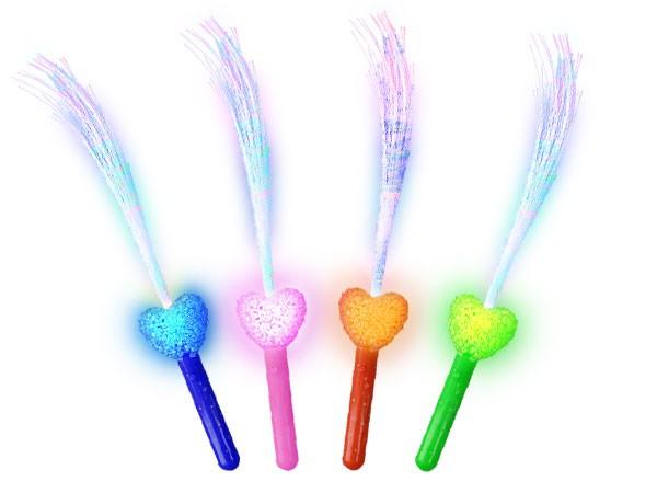 Flashlight Blinkstäbe Leuchtstab Herz mit Glasfaser alle Farben