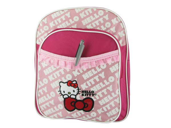 hello kitty rucksack rosa mit fahrradbefestigung 3. Black Bedroom Furniture Sets. Home Design Ideas