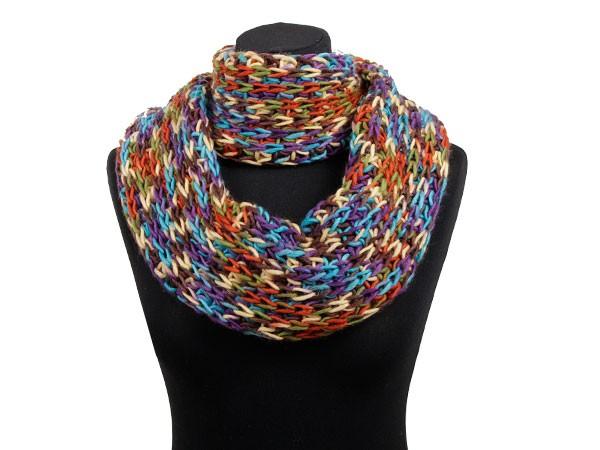 comment tricoter un foulard rond
