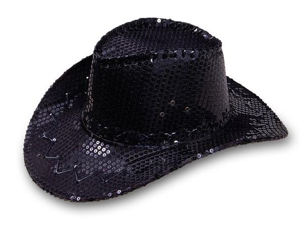 chapeau de cowboy pour femme avec sequin paillette wild west western country ebay. Black Bedroom Furniture Sets. Home Design Ideas