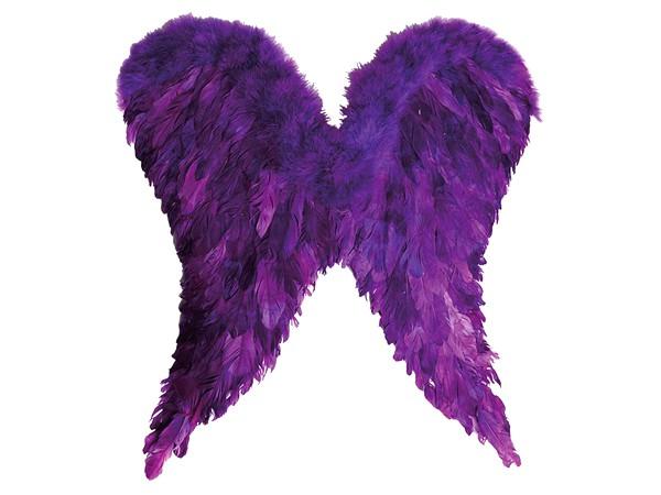 Engelsflügel groß lila Vampir Engel Federn Flügel Teufel Karneval Fasching Kostüm