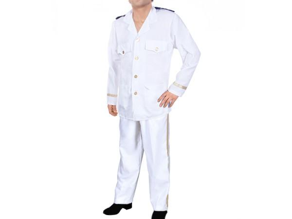 herren karnevalskost m kapit n captain marine offizier fasching kost m uniform wei. Black Bedroom Furniture Sets. Home Design Ideas