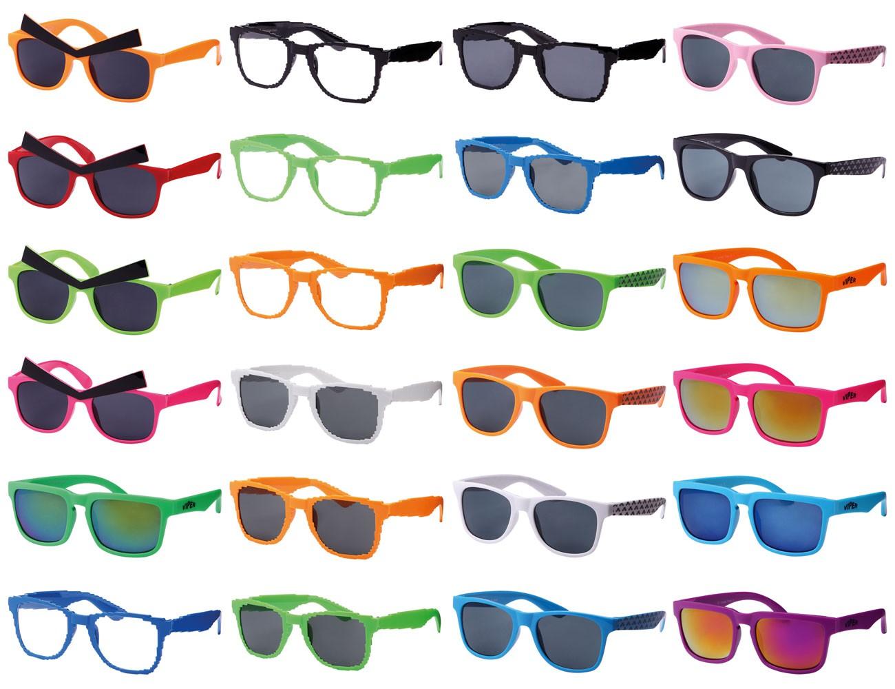 Retro Nerd-Brillen Sonnenbrille Hipster-Brille Party Atzen ALLE ...