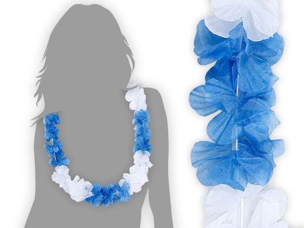 hawaiiketten blau wei blumenketten hawaii ketten 21. Black Bedroom Furniture Sets. Home Design Ideas