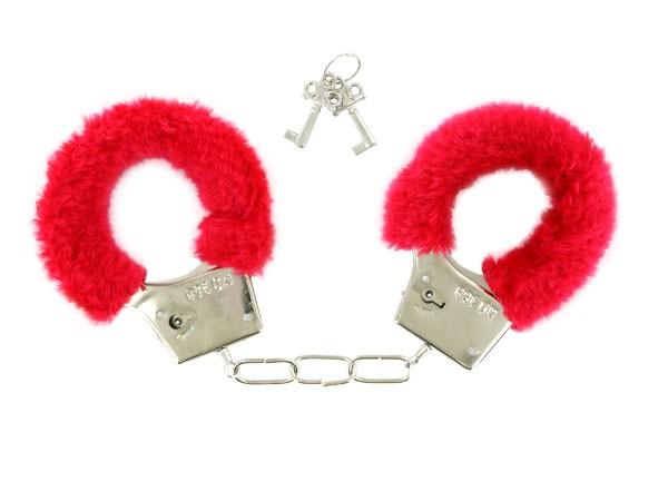 kuschel handschellen hand cuffs rot pl sch 03. Black Bedroom Furniture Sets. Home Design Ideas
